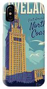 Cleveland Poster - Vintage Style Travel  IPhone Case