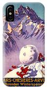 Vintage Swiss Travel Poster IPhone Case