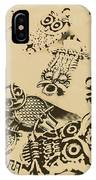 Vintage Toned Owls IPhone Case