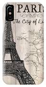 Vintage Travel Poster Paris IPhone X Case by Debbie DeWitt