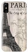 Vintage Travel Poster Paris IPhone Case
