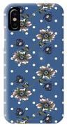 Vintage Wallpaper Seamless Rose Flower Pattern On Circles Polka  IPhone Case