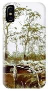Vintage Winter Car Wreck IPhone Case