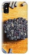 Vintage Writers Block IPhone X Case