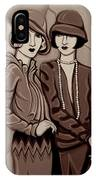 Violet And Rose In Sepia Tone IPhone X Case
