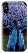 Violet Blue Baobab IPhone Case