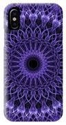 Violet Digital Mandala IPhone Case