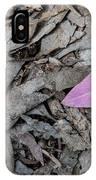Violet Leaf On The Ground  IPhone Case