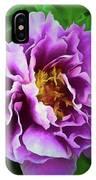 Violet Peony IPhone Case