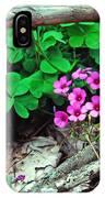 Violet Wood Sorrel IPhone Case