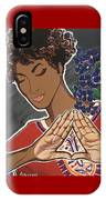 Violets And Dashiki IPhone Case