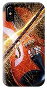 Violin With Sparks Flying From The Bow IPhone Case
