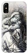 Virgin And Child Madonna Of Humility 1490 IPhone Case