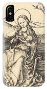 Virgin And Child On A Grassy Bench IPhone Case