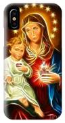 Virgin Mary And Baby Jesus Sacred Heart IPhone Case