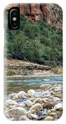 Virgin River In Zion Canyon IPhone Case