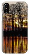 Vivid Sunset On The Lake In Olney IPhone Case