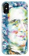 Voltaire - Watercolor Portrait IPhone Case