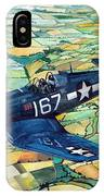 Quiet Sky - Vought F4u-1d Corsair IPhone Case