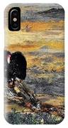 Vulture With Oncoming Storm IPhone Case
