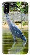 Wading Blue Heron IPhone Case