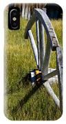 Wagon Wheel In Grass IPhone Case