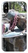 Waikiki Statue - Surfer Boy And Seal IPhone Case