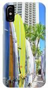 Waikiki Surfboards IPhone Case