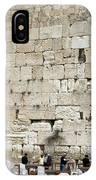 Wailing Wall In Jerusalem IPhone Case