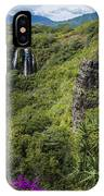 Wailua Falls And Tropical Plants IPhone Case