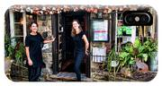 Waitresses At Outdoor French Terroir In Old Quebec City IPhone X Case