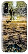 Walk By The Sea IPhone Case