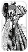 Walking Dress, 1890s IPhone Case