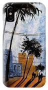 Walking Home, Watercolor IPhone Case