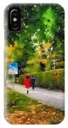 Walking On A Beautiful Path IPhone Case