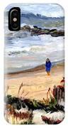 Walking The Beach On Long Beach Island IPhone Case
