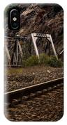 Walking The Tracks IPhone Case