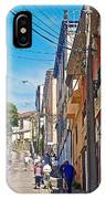 Walking Up Steep Streets In Hilly Valparaiso-chile IPhone Case