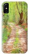 Walkway In Secluded Deciduous Forest IPhone Case