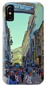 Walkway Over The Street - Lisbon IPhone Case