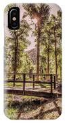 Wallowa Lake Foot Bridge IPhone Case
