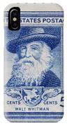 Walt Whitman Postage Stamp IPhone Case