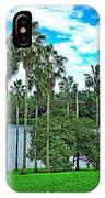 Waokele Pond Palms And Sky IPhone Case