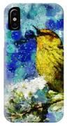Warbler Of Spring IPhone Case