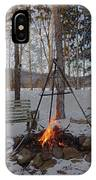 Warm Camp Fire IPhone Case