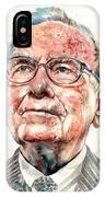 Warren Buffett Portrait IPhone Case