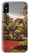 Washington Square In Mobile Alabama Painted IPhone Case