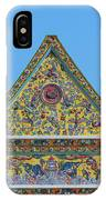Wat Ratcha Orasaram Phra Wihan Gable Dthb0862 IPhone Case