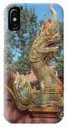 Wat Suan Prig Phra Wihan Makara And Naga Guardian Dthcm2395 IPhone Case