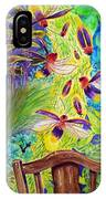 Watching The Bug Byway By Way Of Back Porch IPhone Case